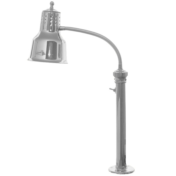 Hanson Heat Lamps ESL/FM/SS Single Bulb Flexible Mounted Heat Lamp with Stainless Steel Finish - 115/230V