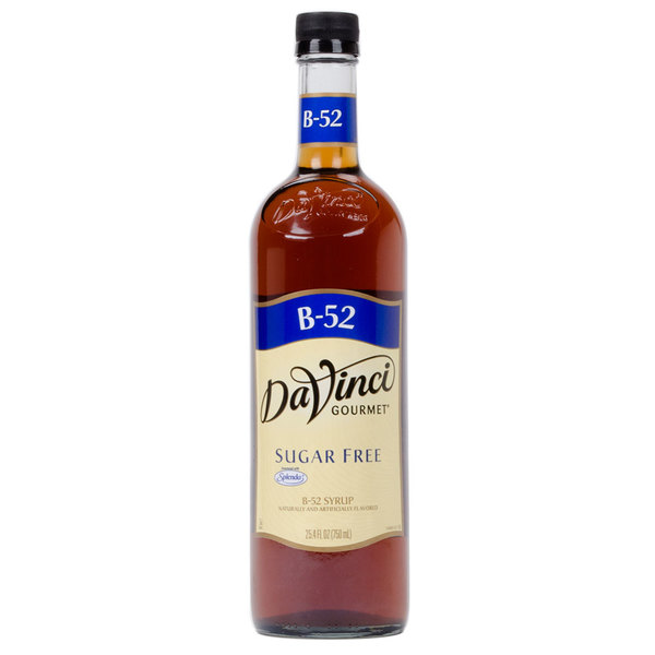 DaVinci Gourmet 750 mL B-52 Sugar Free Coffee Flavoring Syrup