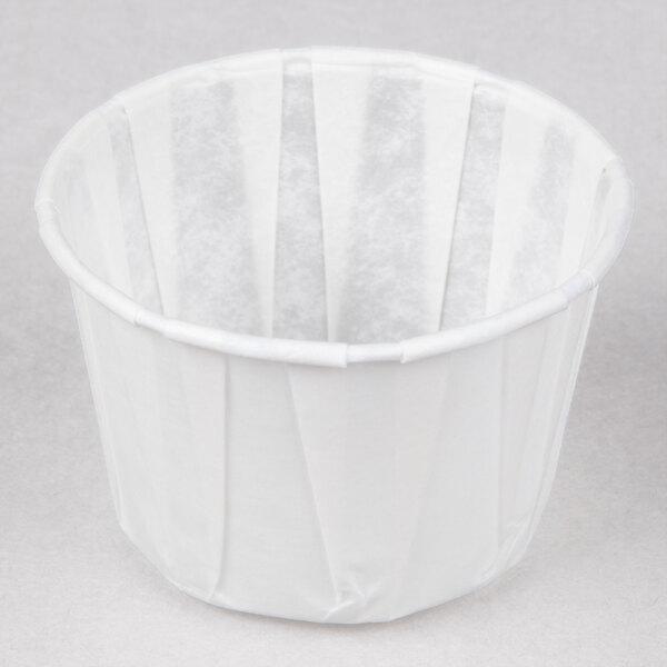 Genpak F200 2 oz. Harvest Paper Souffle / Portion Cup 5000 / Case
