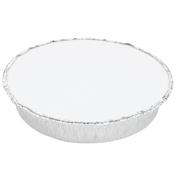 """8 1/8"""" Round Foil Laminated Board Lid - 500/Case"""