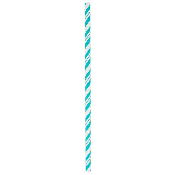 Creative Converting 329632 7 3/4 inch Jumbo Teal Lagoon Paper Straws - 144/Case