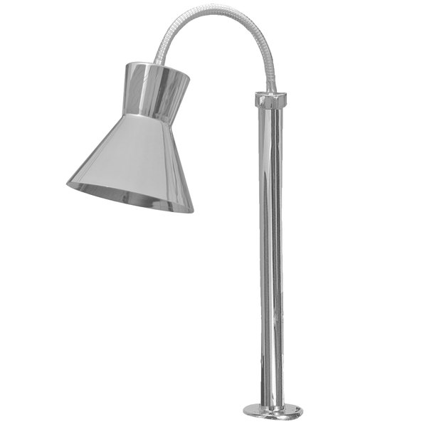 Hanson Heat Lamps SL/FM/ST/300/SS Single Bulb Flexible Mounted Streamline Heat Lamp with Stainless Steel Finish - 115/230V Main Image 1