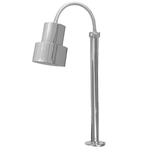 Hanson Heat Lamps SL/FM/ST/200/SS Single Bulb Flexible Mounted Streamline Heat Lamp with Stainless Steel Finish - 115/230V Main Image 1
