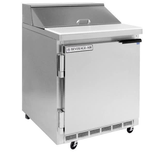 """Beverage-Air SPE27HC-12M-24-23 Elite Series 27"""" 1 Door Mega Top ADA Height Refrigerated Sandwich Prep Table"""