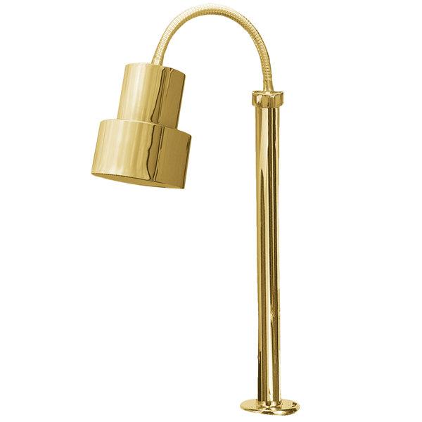 Hanson Heat Lamps SL/FM/ST/200/BR Single Bulb Flexible Mounted Streamline Heat Lamp with Brass Finish - 115/230V Main Image 1