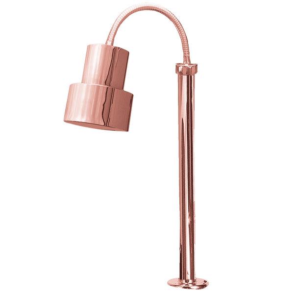 Hanson Heat Lamps SL/FM/ST/200/BCOP Single Bulb Flexible Mounted Streamline Heat Lamp with Bright Copper Finish - 115/230V Main Image 1