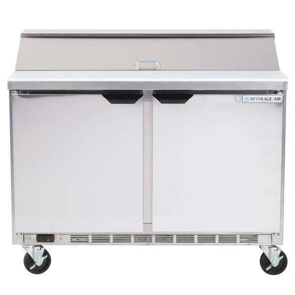 Beverage-Air SPE48HC-12 Elite Series 48 inch 2 Door Refrigerated Sandwich Prep Table