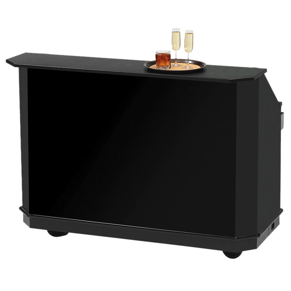 "Vollrath 98744-5 61 1/2"" Black ACM Straight Portable Bar Main Image 1"