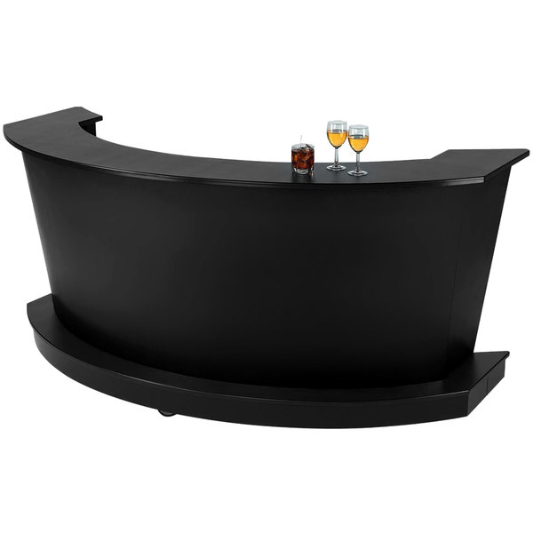 "Vollrath 75683B 60"" Black ACM Curved Portable Bar Main Image 1"