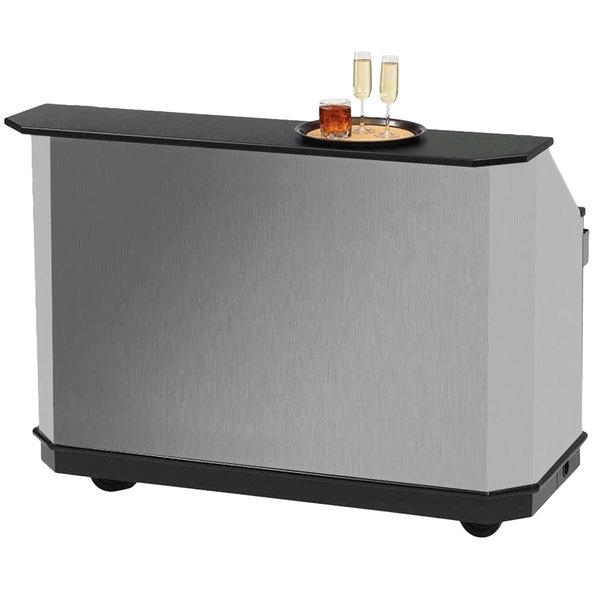 "Vollrath 987445SLV 61 1/2"" Silver ACM Straight Portable Bar"