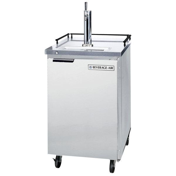 Beverage-Air BM23HC-S-31 Single Tap Kegerator Beer Dispenser - Stainless Steel, (1) 1/2 Keg Capacity