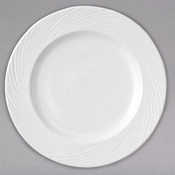 Arcoroc FK764 Candour Cirrus 11 1/2  White Porcelain Dinner Plate by Arc Cardinal - 12/Case  sc 1 st  WebstaurantStore & Arcoroc FK764 Candour Cirrus 11 1/2