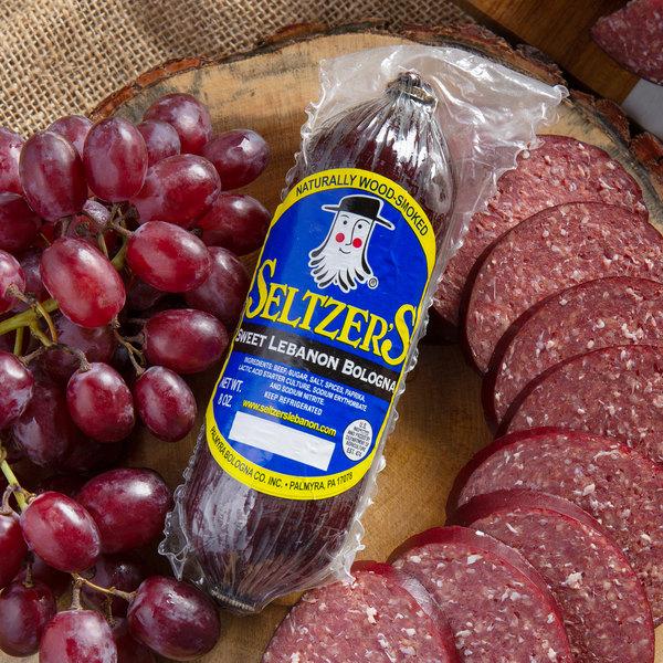Seltzer's Lebanon Bologna 8 oz. Sweet Bologna Chub - 15/Case