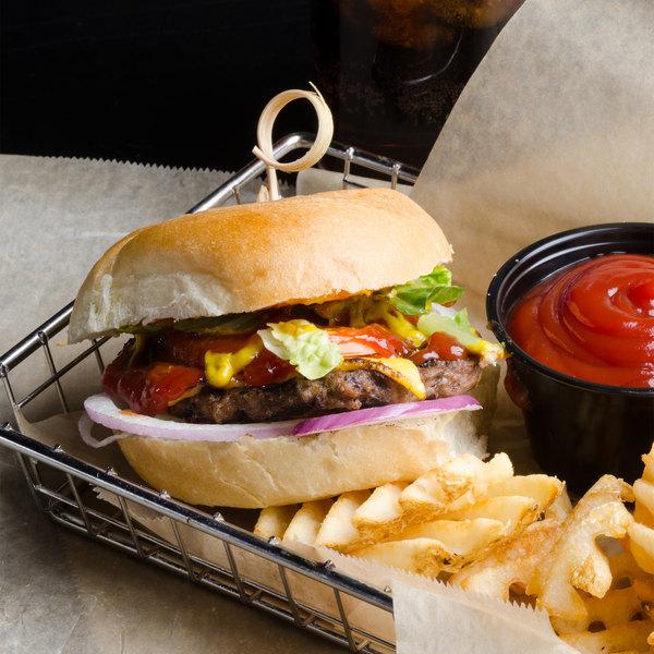 Devault Foods 2.7 oz. 75/25 Beef Burger - 73/Case Main Image 2