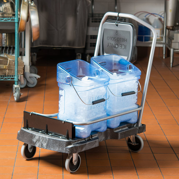 Rubbermaid FG9F5500BLA ProServe Ice Tote Cart for FG9F5300TBLUE and FG9F5400TBLUE Ice Totes