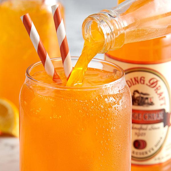 Reading Soda Works 12 oz. Orange Cream - 12/Case Main Image 3