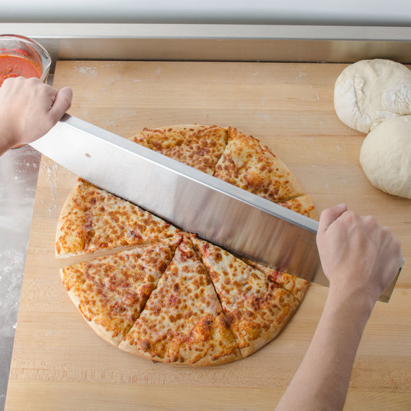 "American Metalcraft PKRS22 22"" Stainless Steel Pizza Rocker Knife"