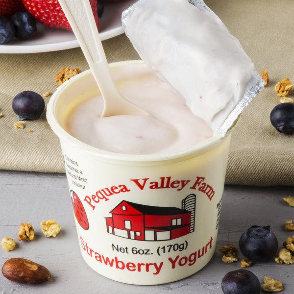 Pequea Valley Farm 6 oz. Strawberry Yogurt - 6/Case