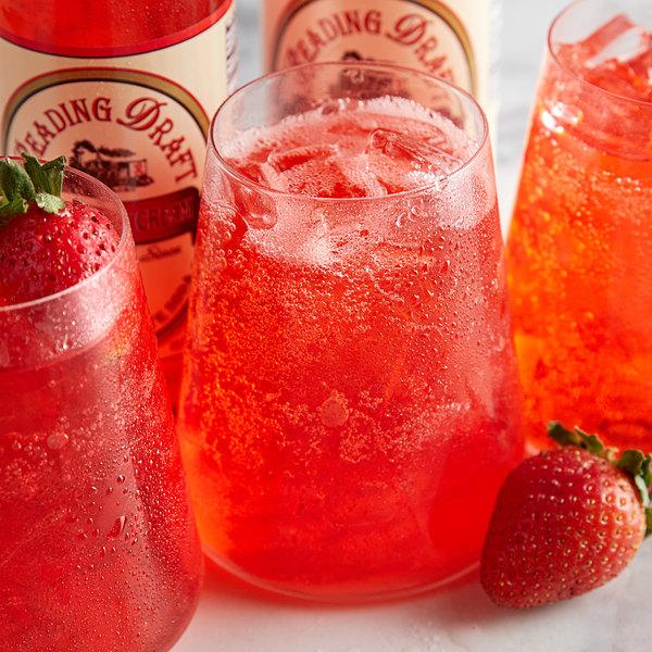 Reading Soda Works 12 oz. Strawberry Cream - 12/Case Main Image 3
