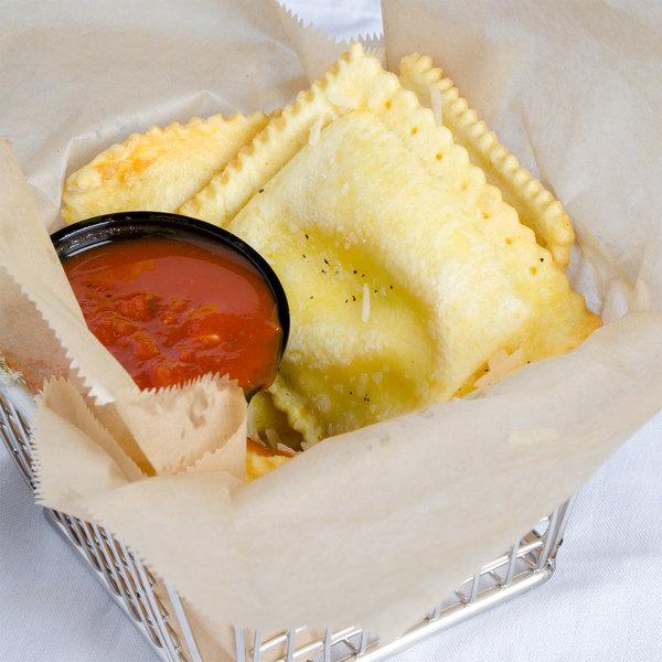 Conte's Pasta Partially Cooked Square Cheese Ravioli - 10 lb. Main Image 3