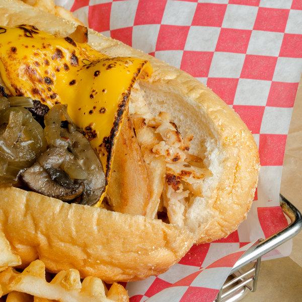Devault Foods 4 lb. Wafer Sliced Seasoned Philadelphia Chicken Steak - 3/Case