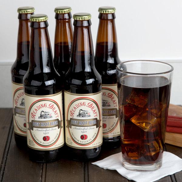 Reading Soda Works 12 oz. Diet Root Beer - 12/Case