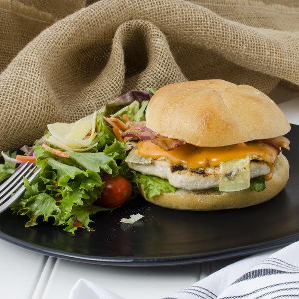 Devault Foods 4 oz. Seasoned Turkey Burgers - 40/Case