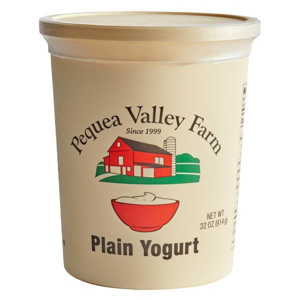 Pequea Valley Farm 32 Oz Amish Made 100 Grass Fed Plain Yogurt 6 Case