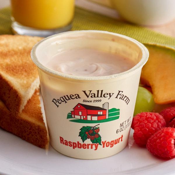 Pequea Valley Farm 6 oz. Amish-Made 100% Grass Fed Raspberry Yogurt - 6/Case Main Image 2