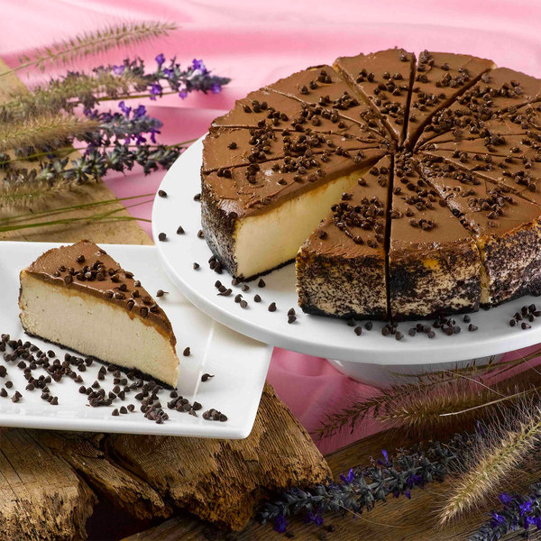 "Pellman 9"" Pre-Cut Peanut Butter Cheesecake - 6/Case"