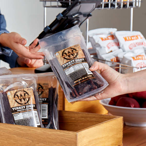 Weaver's 1 lb. Pack Chopped and Formed Turkey Jerky - 4/Case Main Image 2