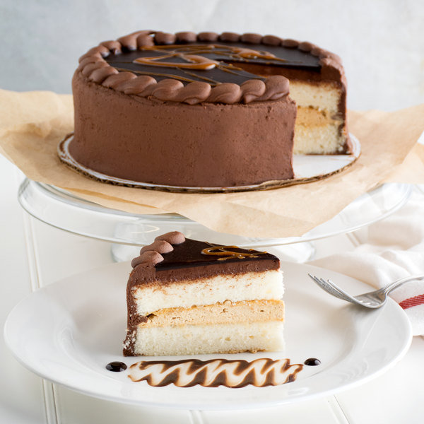 "Pellman 9"" Fudgy Peanut Butter Ripple Cake - 4/Case"
