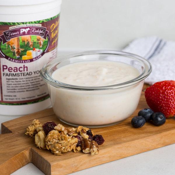 Farmer Rudolph's 32 oz. Peach Farmstead Yogurt - 6/Case