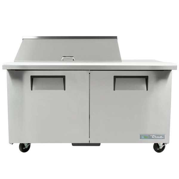 True TSSU-60-18M-B 60 inch 2 Door Mega Top Refrigerated Sandwich Prep Table