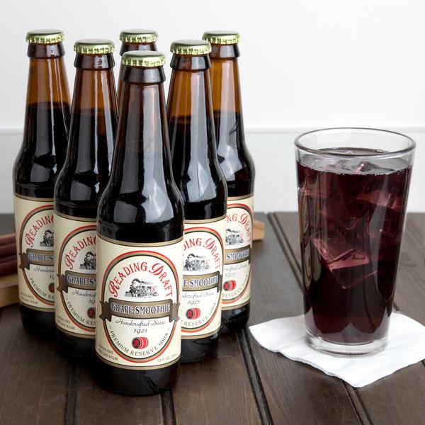 Reading Soda Works 12 oz. Grape Smoothie - 12/Case