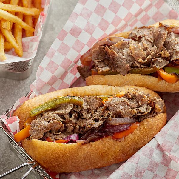 Devault Foods 4 oz. Philadelphia Style Raw Chunked and Formed Sandwich Slice Steak - 40/Case Main Image 2