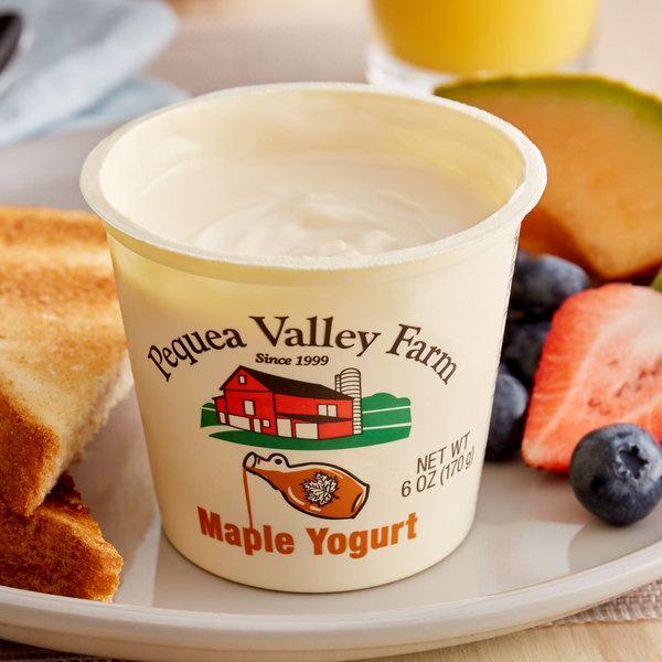 Pequea Valley Farm 6 Oz Amish Made 100 Grass Fed Maple Yogurt 6 Case