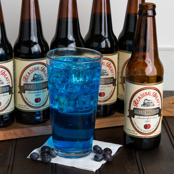 Reading Soda Works 12 oz. Blueberry Birch Beer - 12/Case