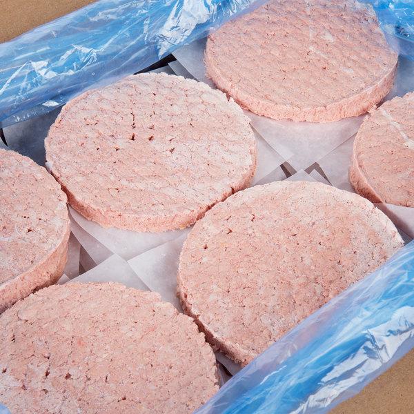 Devault Foods 4 oz. 75/25 Beef Burger - 40/Case