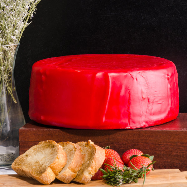 York Valley Cheese Company Druck's 12 lb. Mini Wheel of Yellow Extra Sharp Cheddar Cheese in Red Wax Main Image 4