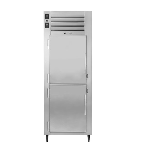 Traulsen AHT126WUT-HHS 19.1 Cu. Ft. One Section Solid Half Door Shallow Depth Reach In Refrigerator - Specification Line Main Image 1