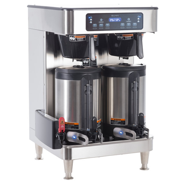 Bunn 51200.0103 ICB Infusion Series WiFi Capable Stainless Steel Twin Coffee Brewer - 120/240V Main Image 1