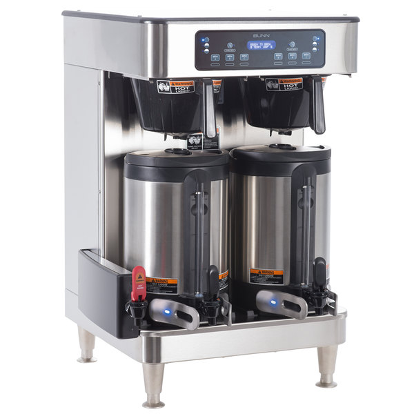 Bunn 51200.0102 ICB Infusion Series Stainless Steel Twin Automatic Coffee Brewer - 120/208V, 6000W Main Image 1