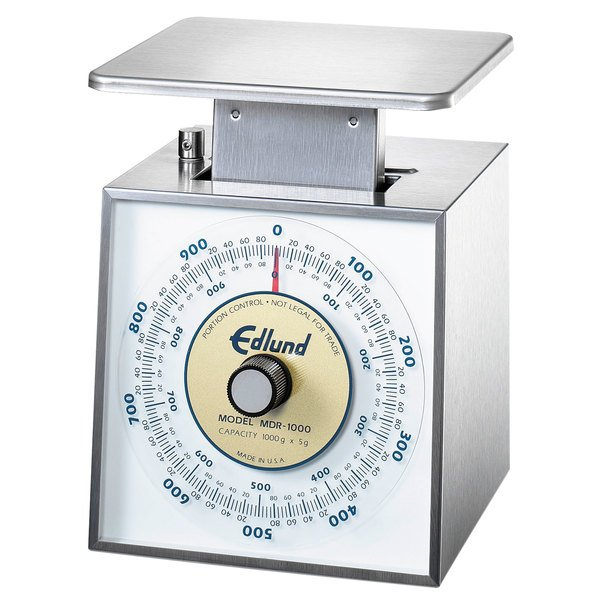 """Edlund MDR-1000 1000 g Metric Portion Scale with 6"""" x 6 3/4"""" Platform"""