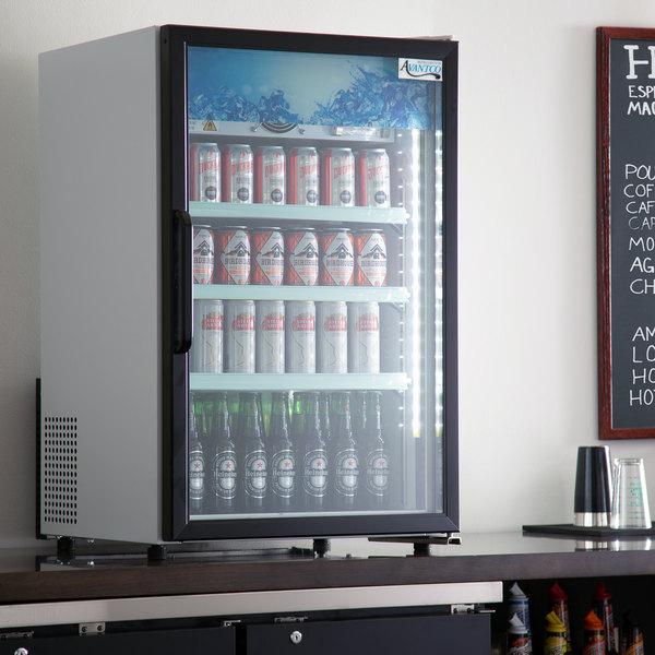 Avantco CRM-7-HC White Countertop Display Refrigerator with Swing Door - 4.1 Cu. Ft. Main Image 4