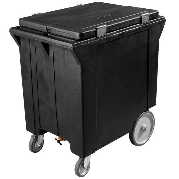 Carlisle IC222003 Black Cateraide 200 lb. Mobile Ice Caddy