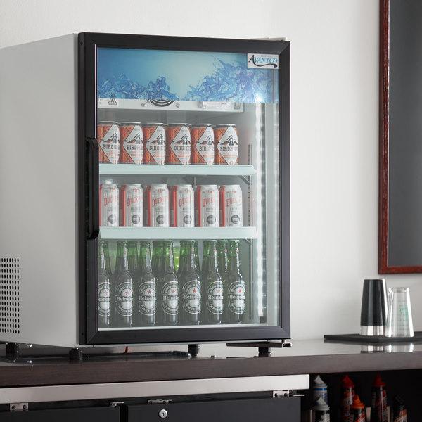 Avantco CRM-5-HC White Countertop Display Refrigerator with Swing Door - 3.9 Cu. Ft. Main Image 4