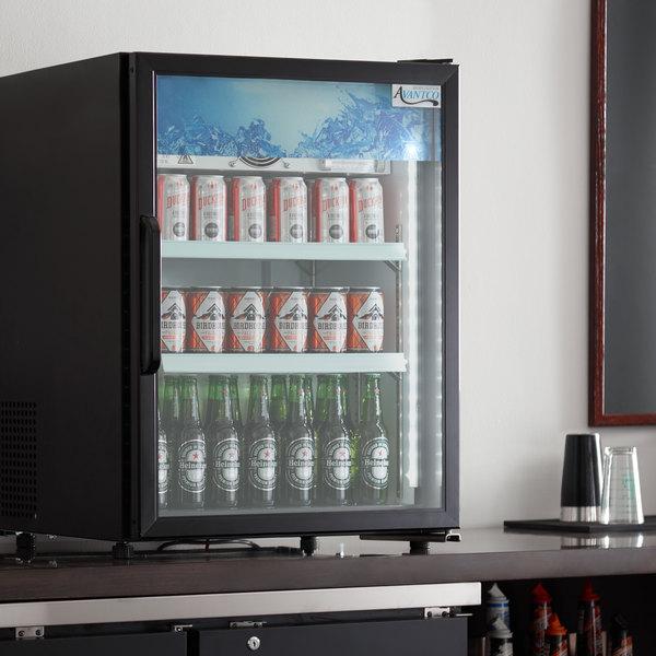 Avantco CRM-5-HC Black Countertop Display Refrigerator with Swing Door - 3.9 Cu. Ft. Main Image 4