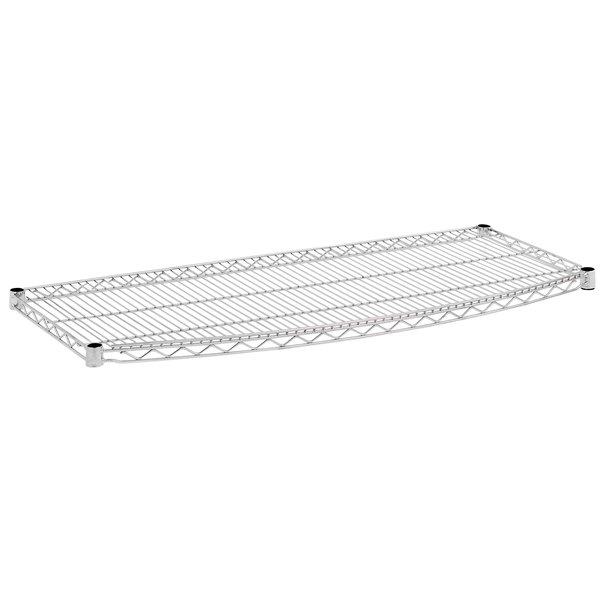 "Metro 1836RC 18"" x 36"" Chrome Plated Curved Wire Shelf"