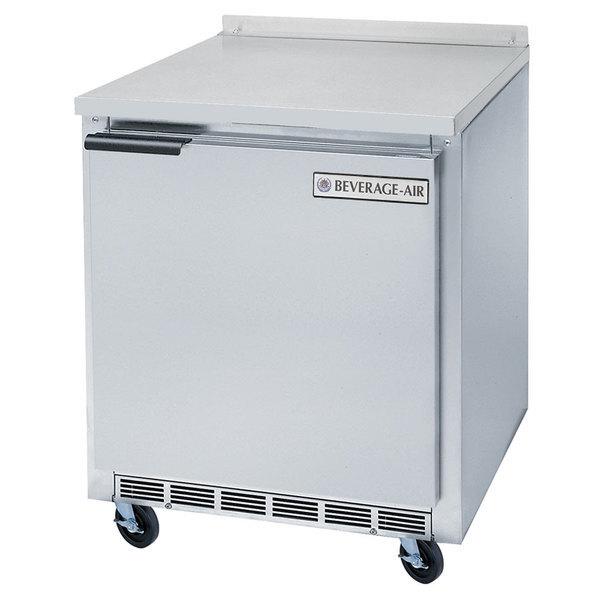 "Beverage-Air WTF27AHC-24-23 27"" Compact Worktop ADA Height Freezer - Left Hinge"